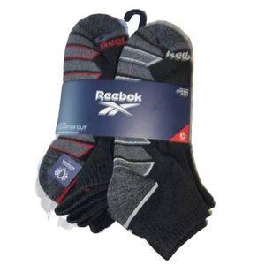 6 Pair Reebok Men's Performance Quarter Cut Socks